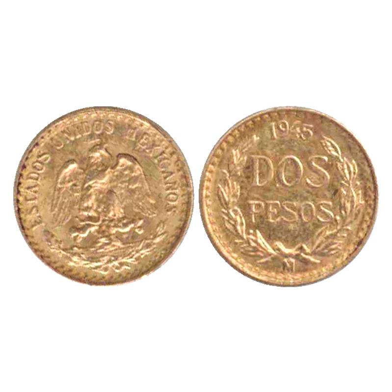 mexiko münzring dos pesos